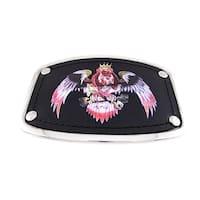 Chrome & Black Leather Dog Eagle Belt Buckle