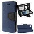 Insten Stand Folio Flip Leather Wallet Flap Pouch Case Cover for Apple iPhone 5/ 5S/ SE - Thumbnail 0