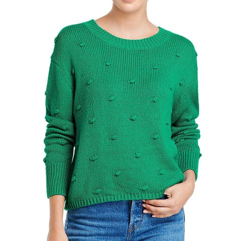 525 America Women's Sweater Green Size Large L Pullover Textured Cotton