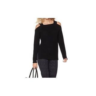 That Woman By Marlo Thomas NEW Black Womens Size Large L Knitted Sweater