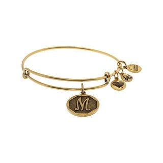 "Alex And Ani Women's Initial Bangle Bracelet - 9"" - Gold"