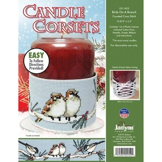 "Candle Corsets Birds On A Branch Plastic Canvas Kit-10.875""X"
