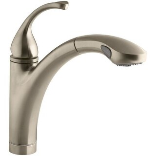 """Kohler K-10433 Forte Single-Hole or 3-Hole Kitchen Sink Faucet with 10-1/8"""" Pullout Spray Spout with MasterClean Sprayface"""