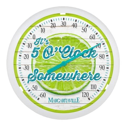 La Crosse HD79875 12-Inch Margaritaville Dial Thermometer - It's 5 O' Clock Somewhere