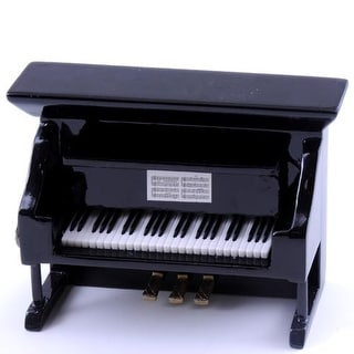 Black Upright Piano Magnet