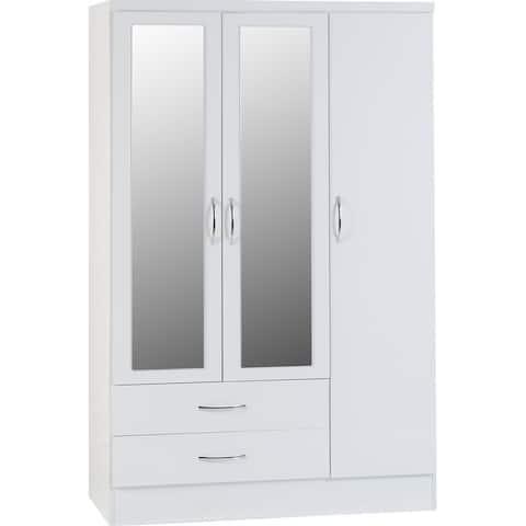 Nevada 3 Door 2 Drawer Wardrobe Armoire