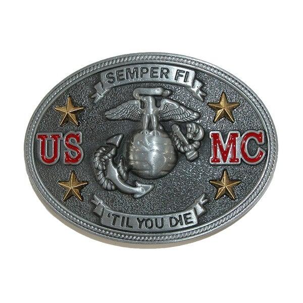 CTM® Semper Fi US Marine Corps Belt Buckle - one size