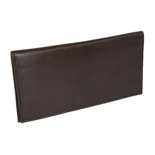 Paul & Taylor Unisex Leather Checkbook Cover Wallet