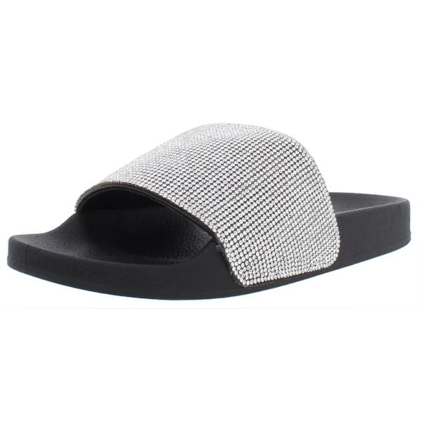 newest website for discount free delivery Shop Madden Girl Womens Fancy Slide Sandals Slip On Rhinestone ...