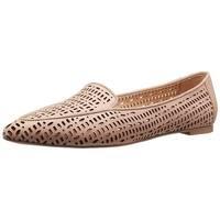 Franco Sarto Womens Soho Leather Pointed Toe Slide Flats
