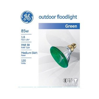 GE 13474 Outdoor Colored Floodlight Bulb, 85 Watts, Par 38