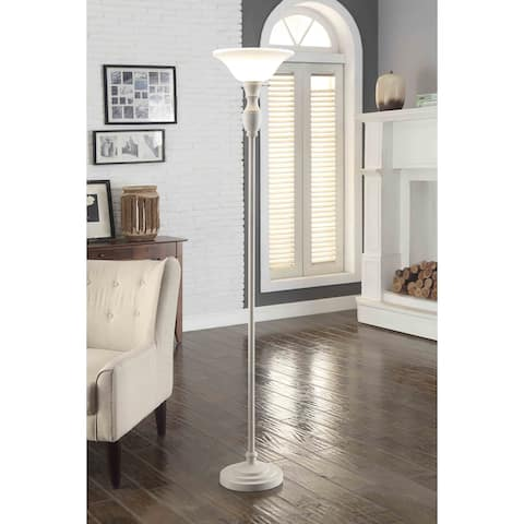 Transitional Torchiere Floor Lamp