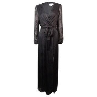 Jessica Simpson Women's Animal Print Chiffon Slit Dress