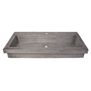 "Native Trails NSL3619 Trough 36"" NativeStone Drop In Bathroom Sink with 1 Hole Drilled"