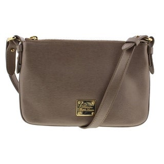 Lauren Ralph Lauren Womens Newbury Textured Convertible Crossbody Handbag - Patina - SMALL