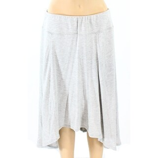 NTCO Gray Women's Size Medium PM Petite Stretch Knit High-Low Skirt