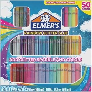 Elmer's Glitter Glue Pens 50/Pkg-Rainbow