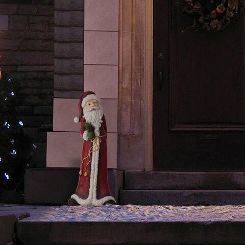 Alpine Corporation Tall Santa Christmas Statue