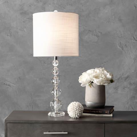 "nuLOOM 27"" Crystal Rain Drops Linen Shade Table Lamp"