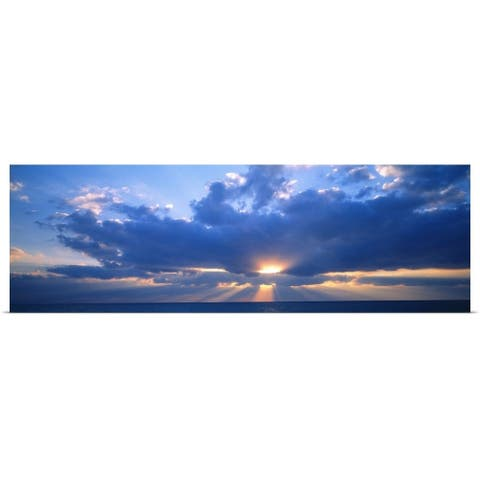 """""""Sunset and Clouds Gulf of Mexico FL"""" Poster Print"""