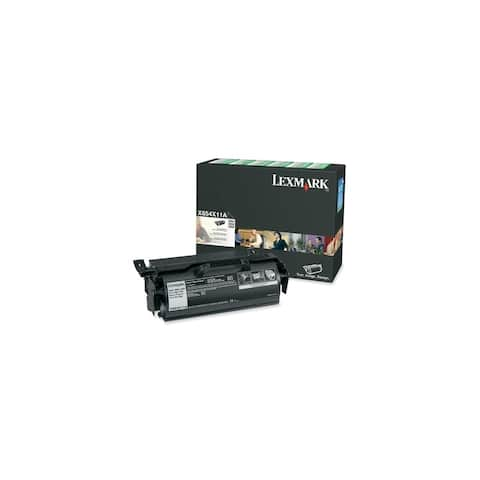 Lexmark X654X11A Lexmark Extra High Yield Return Program Black Toner Cartridge - Black - Laser - 36000 Page - 1 Each