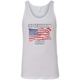 Men's Tank Top USA Flag American Dad Pride Stars & Stripes Patriotic Father Daddy