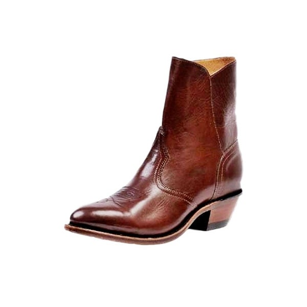 Boulet Western Boots Mens Cowboy Leather Dress Ranch Hand Tan