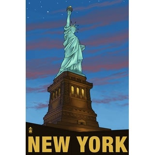 New York City - Statue of Liberty - Lantern Press Artwork (Playing Card Deck - 52 Card Poker Size with Jokers)