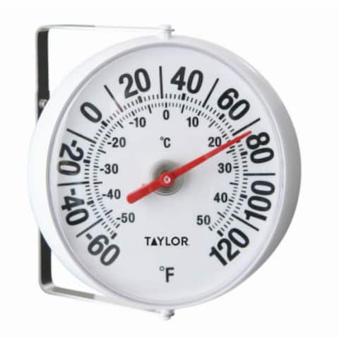 Taylor 5159 Dial Thermometer with Easy Read Graphics, 5.25""