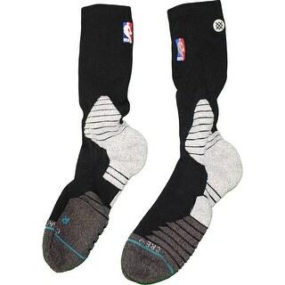 Donald Sloan Brooklyn Nets 201516 Game Used 15 Black and Grey Socks w NBA Logo