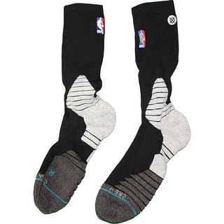 Shane Larkin Brooklyn Nets 201516 Game Used 0 Black and Grey Socks w NBA Logo
