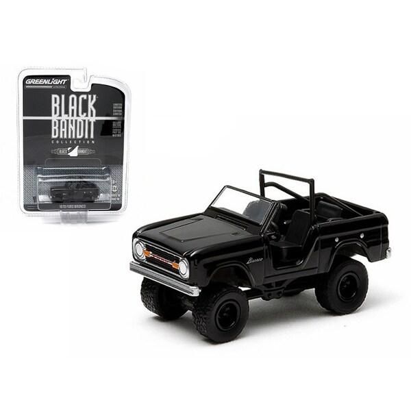 1970 Ford Bronco 4x4 Black Bandit 1 64 Diecast Model Car By Greenlight