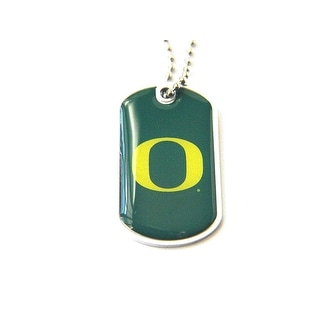 Oregon Ducks Dog Tag Domed Necklace Charm Chain NCAA