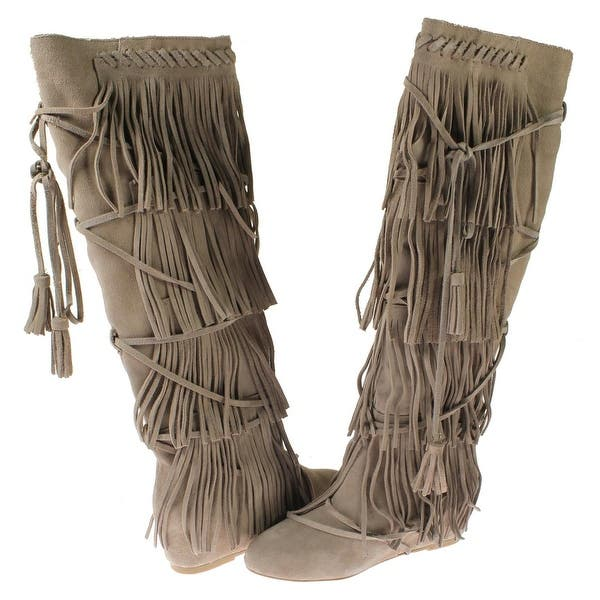look good shoes sale on feet shots of shades of Shop Steve Madden Womens Festeval Moccasin Boots Suede Wedge ...
