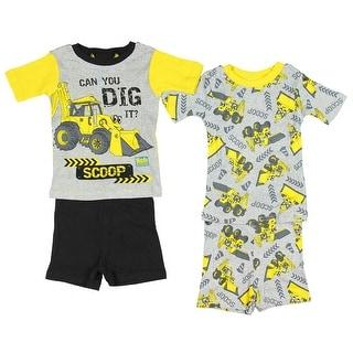 Bob the Builder Toddler Boys' Scoop Cotton 4-Piece Pajama Set