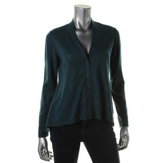 Eileen Fisher Womens Cardigan Sweater Merino Wool Heathered - M