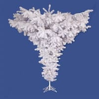 7.5' Crystal White Spruce Artificial Upside Down Christmas Tree - Unlit