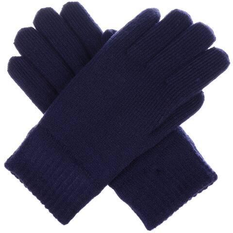 BYOS Winter Women's Toasty Warm Plush Fleece Lined Knit Gloves