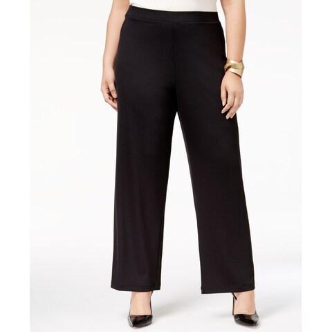 Kasper Black Women's Size 1X Plus Pull-On Stretch Dress Pants
