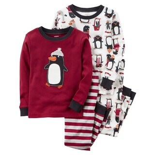 Carter's Baby Boys' 4-Piece Penguin Snug Fit Cotton PJs, 12 Months