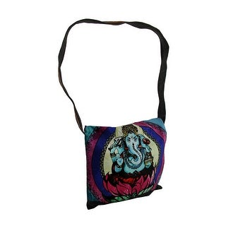 Colorful Ganesha Stonewashed Denim Messenger Bag