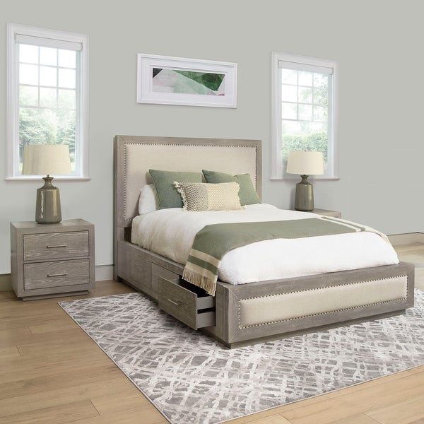 Abbyson Canterbury Wood Storage 3 Piece Bedroom Set. Opens flyout.