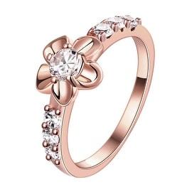 Bow-Tie Emblem Rose Gold Ring