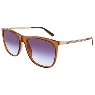 Gucci GG1129/S VKG Brown Gold Square Sunglasses