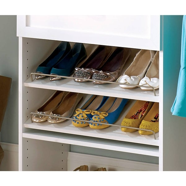 ClosetMaid SuiteSymphony 25-Inch Wide Angled Shoe Shelves. Opens flyout.