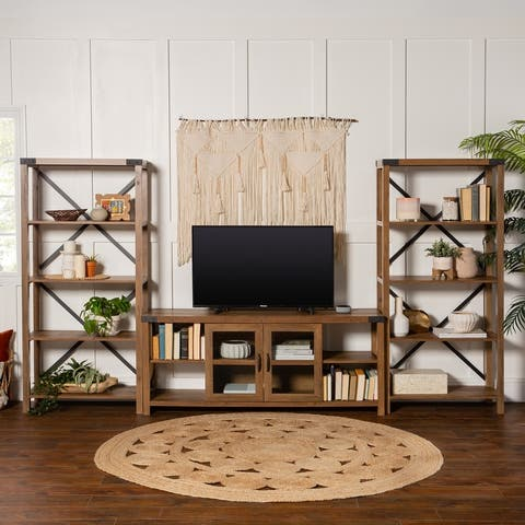 The Gray Barn Kujawa Entertainment Wall with 60-inch TV Console