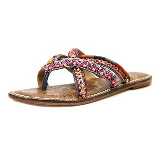 Sam Edelman Karly Women Open Toe Canvas Multi Color Thong Sandal