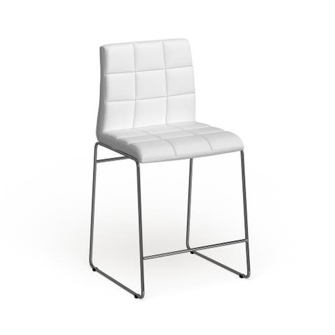 Furniture of America Bale Modern White Dining Chairs (Set of 2)