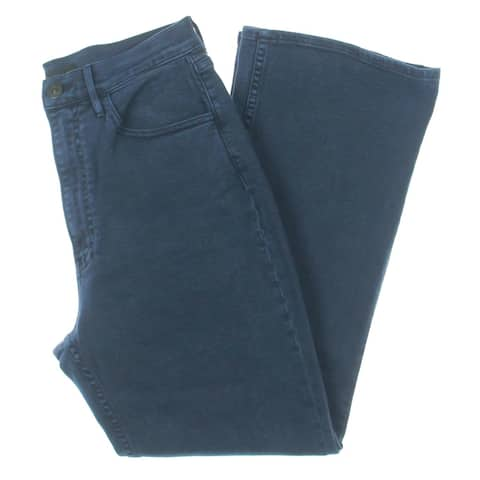 3x1 Womens Empire Cropped Jeans Denim Flare - Mineral Blue - 28