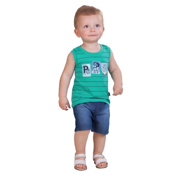 Pulla Bulla Baby Boy Striped Tank Top Sleeveless Shirt